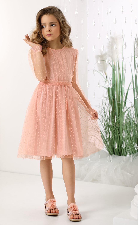 wizytowa sukienka dziewczęca komunia 2021 sukienka różowa z tiulem