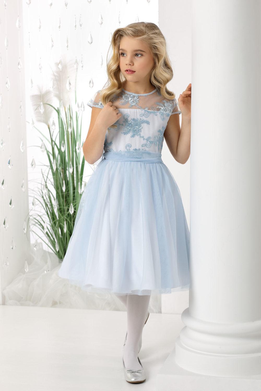 niebieska sukienka pokomunijna i dla druhny