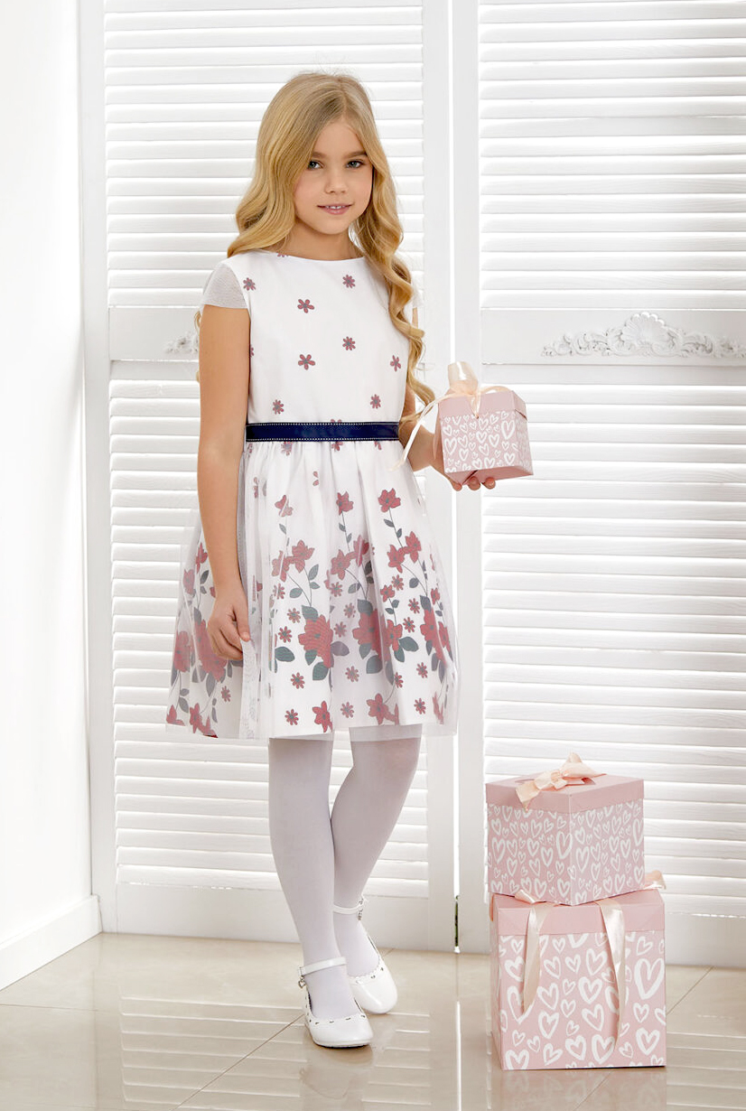 sukienka dziewczęca letnia w kwiaty