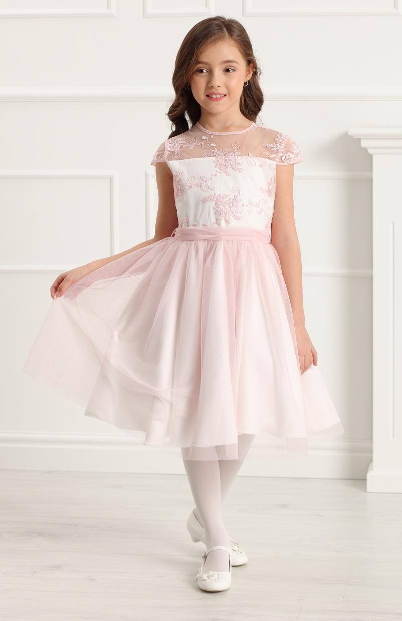 sukienka z tiulem dla dziewczynki po komunii na przyjęcie