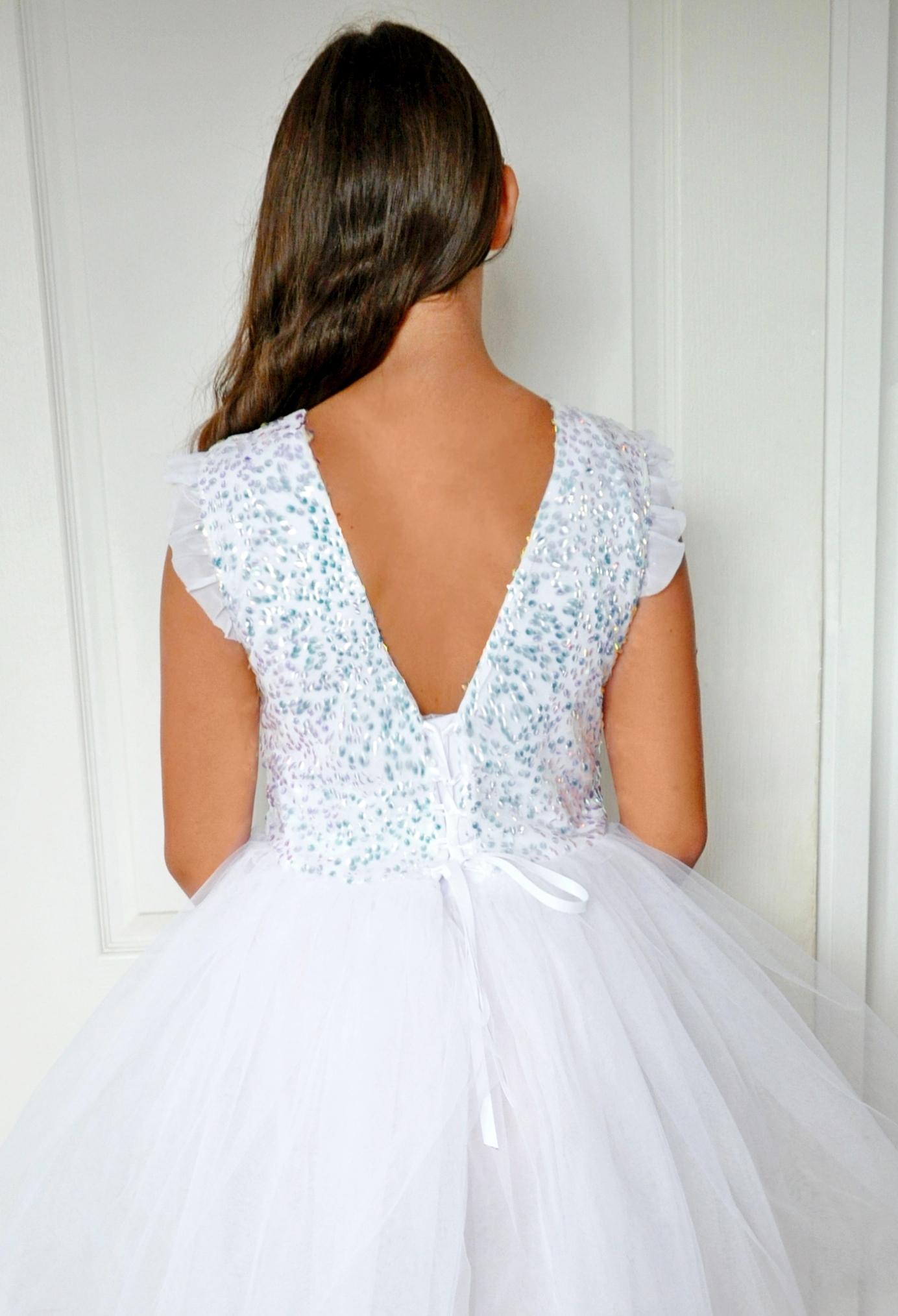 przepiękna suknia dla dziewczynki na wesele dla druhny