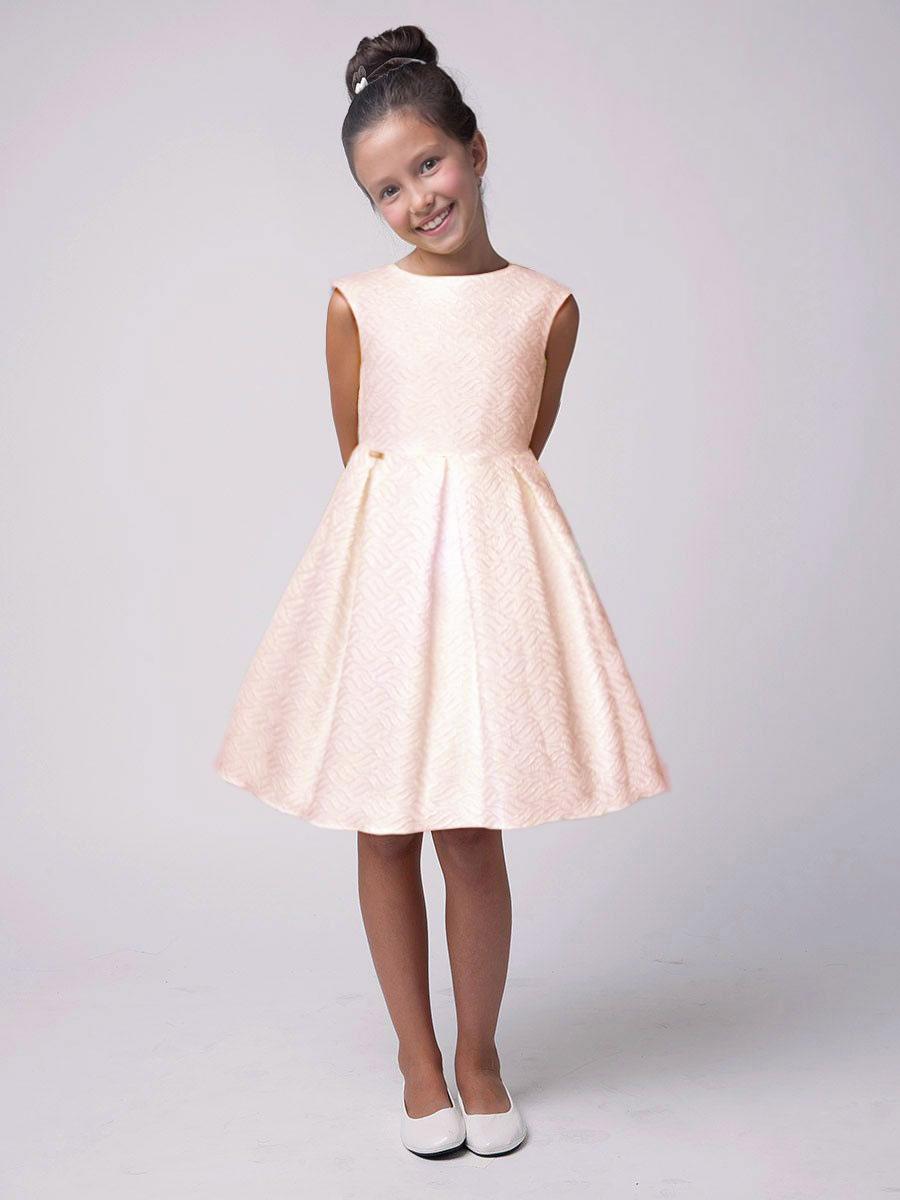 wizytowa sukienka dla dziewczynki żakardowa