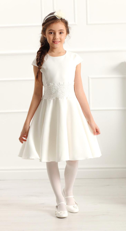 sukienka dla dziewczynki na komunie na wesele sukienka ecru