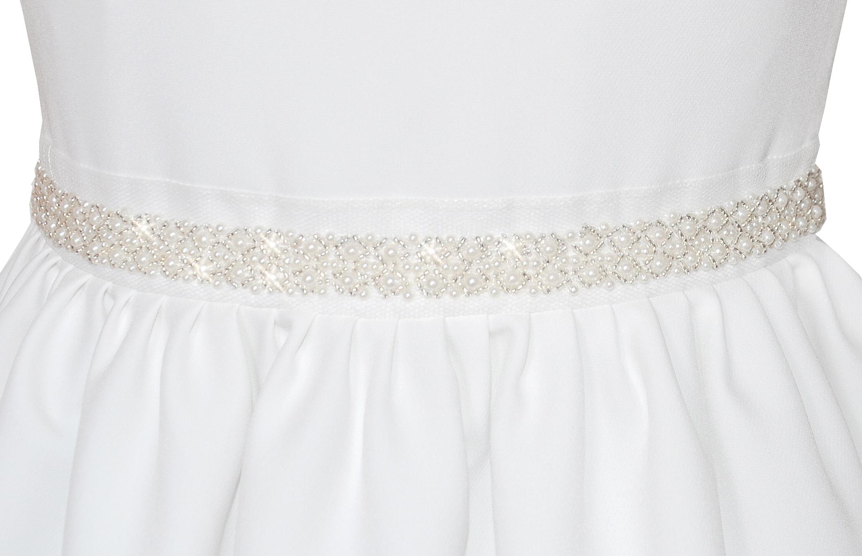 sukienka dla dziewczynki zdobiona w talii